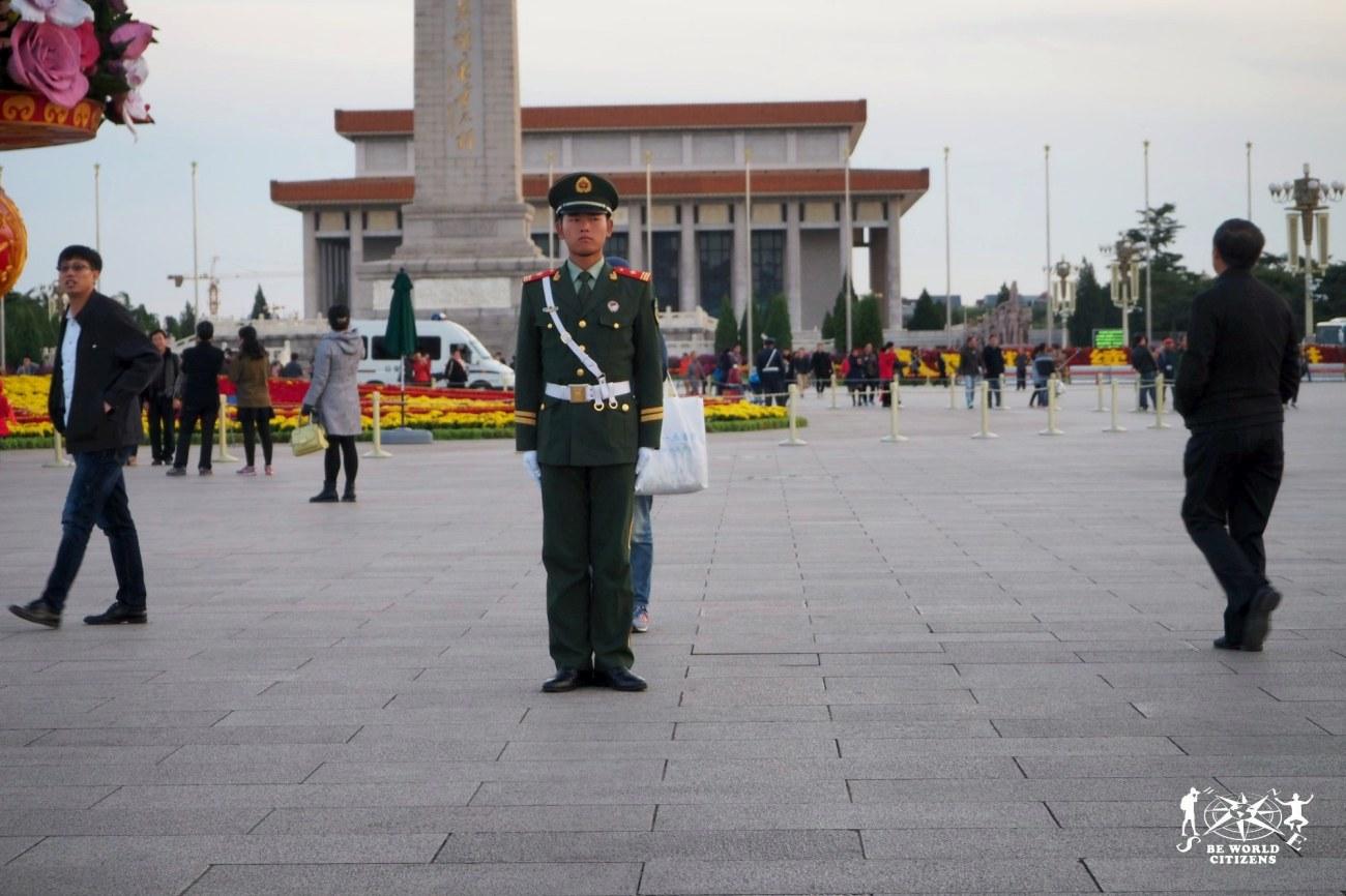 Soldato in Piazza Tiananmen