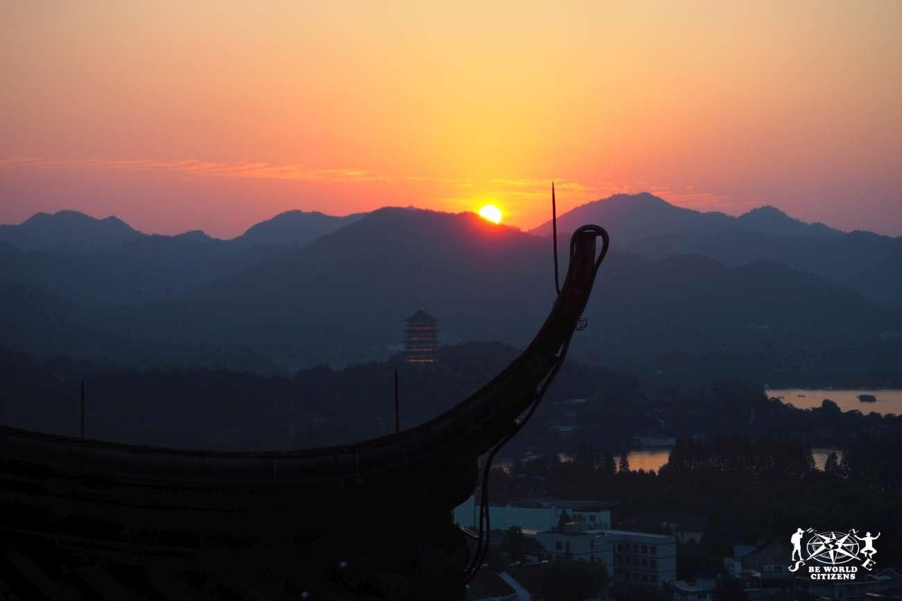 Hangzhou - Tramonto sul West Lake