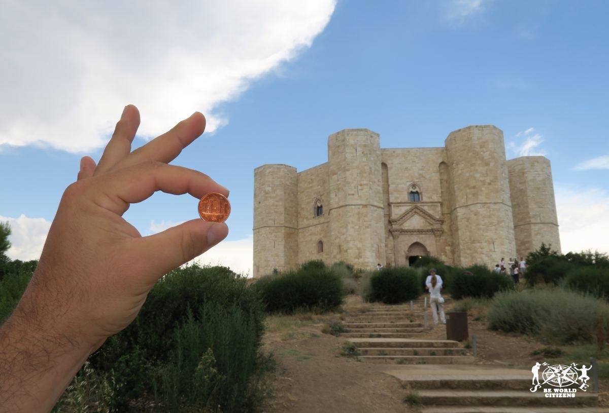 Castel del Monte. La raffigurazione della moneta da un centesimo!