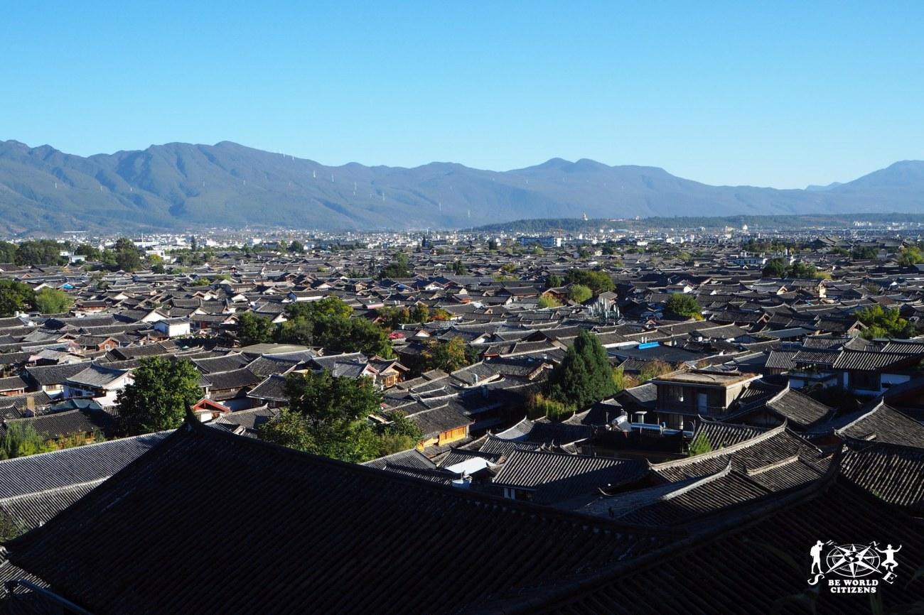 Cina: Lijiang, vista panoramica dei tetti