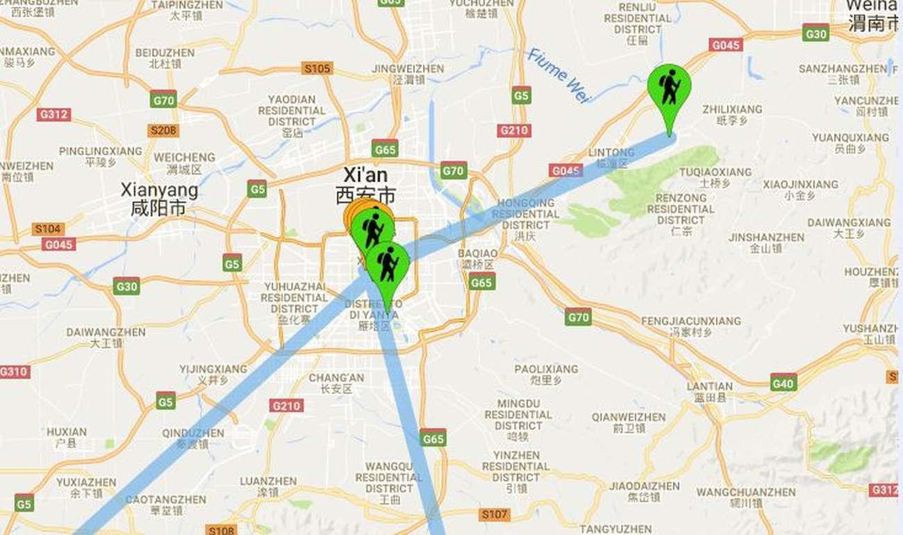 Cina: Xi'An mappa