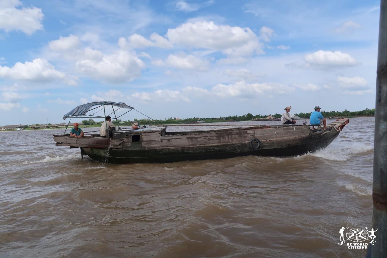 Barche sul delta del Mekong