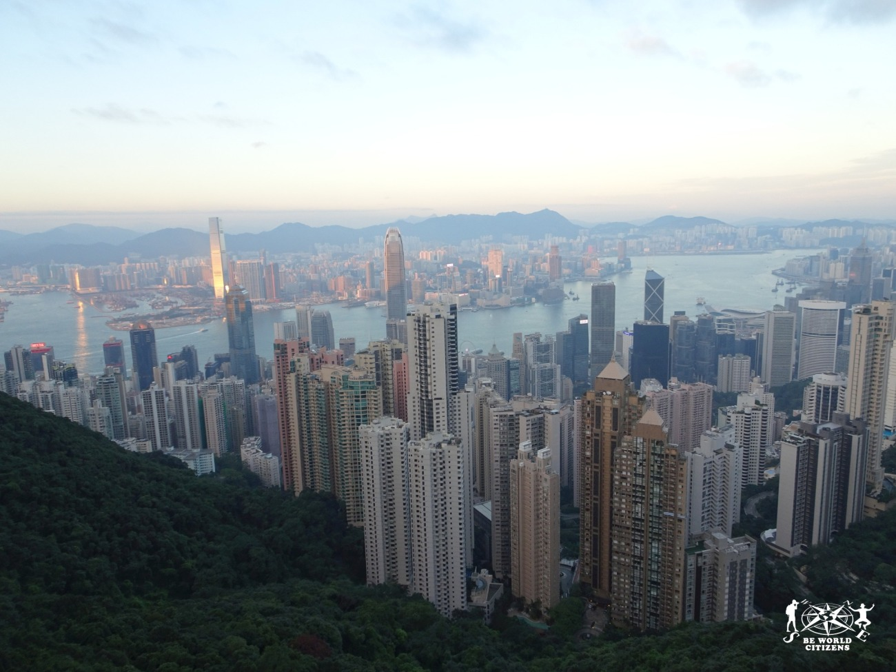 Hong Kong: vista dal Peak all'imbrunire