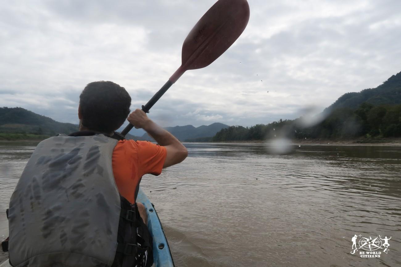 Laos: Luang Prabang, in kayak sul Mekong