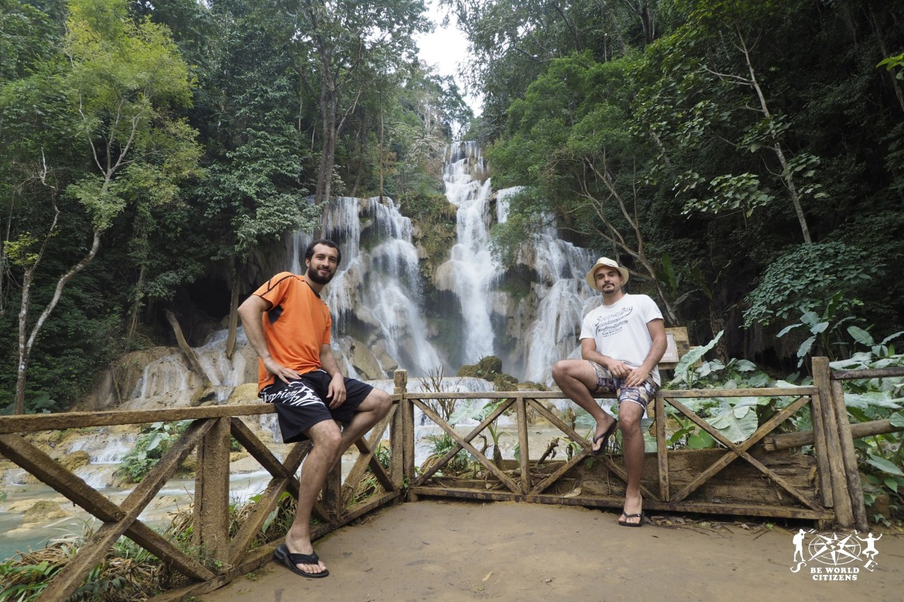 Laos: Luang Prabang, Kuang Si waterfalls