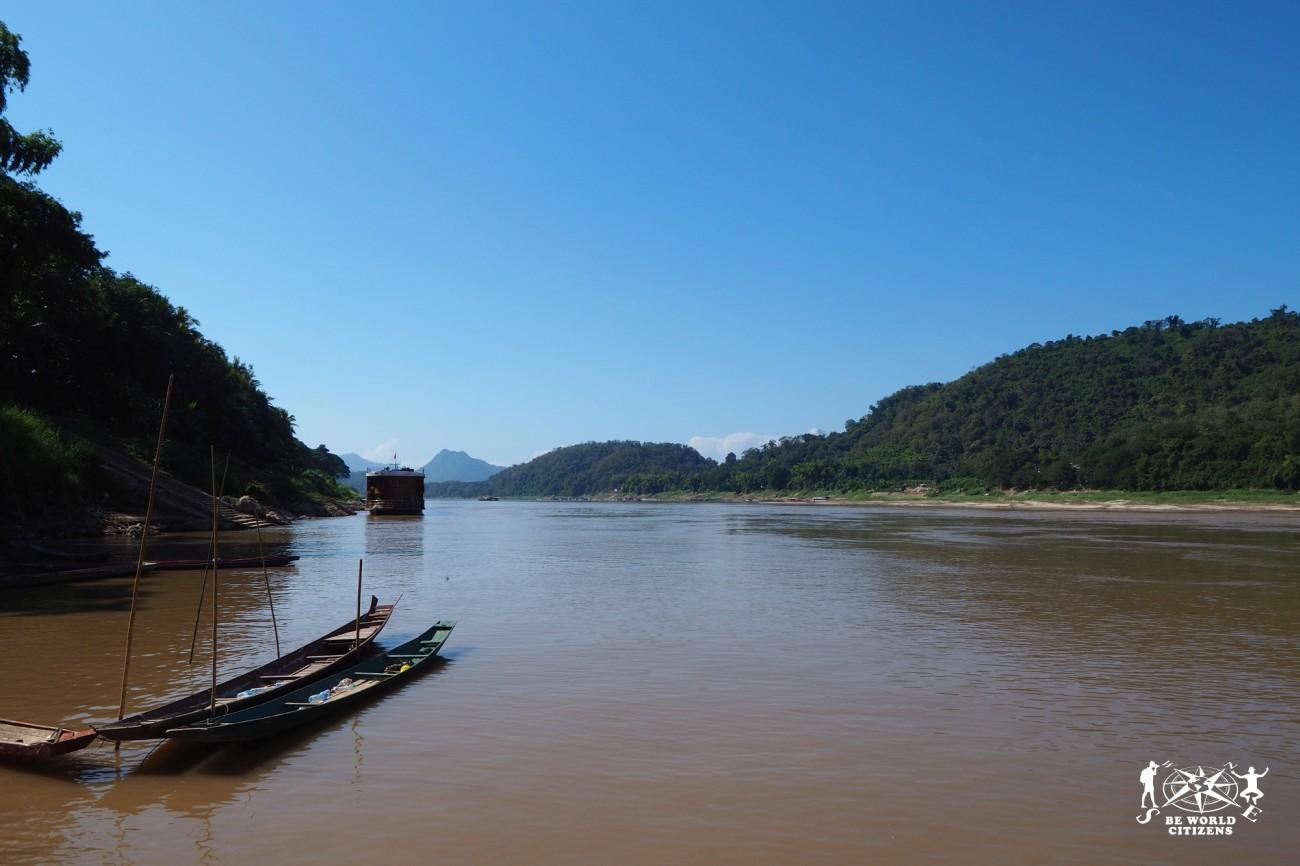 Laos: Luang Prabang, fiume Mekong