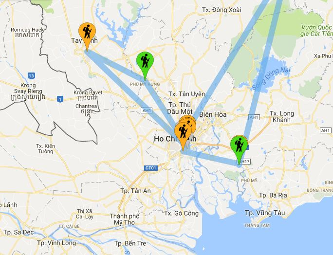 Mappa Ho Chi Minh