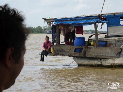 Navigando sul Delta del Mekong