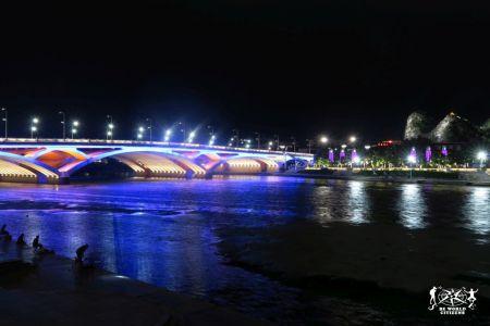 Guilin: Il fiume Li di sera