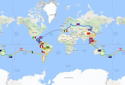 Itinerario Giro Del Mondo