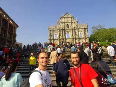 Macao: davanti alla facciata della Chiesa di San Paolo