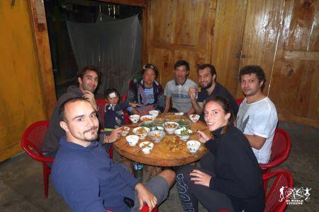 Vietnam: a pranzo dalla nostra homestay a Sapa