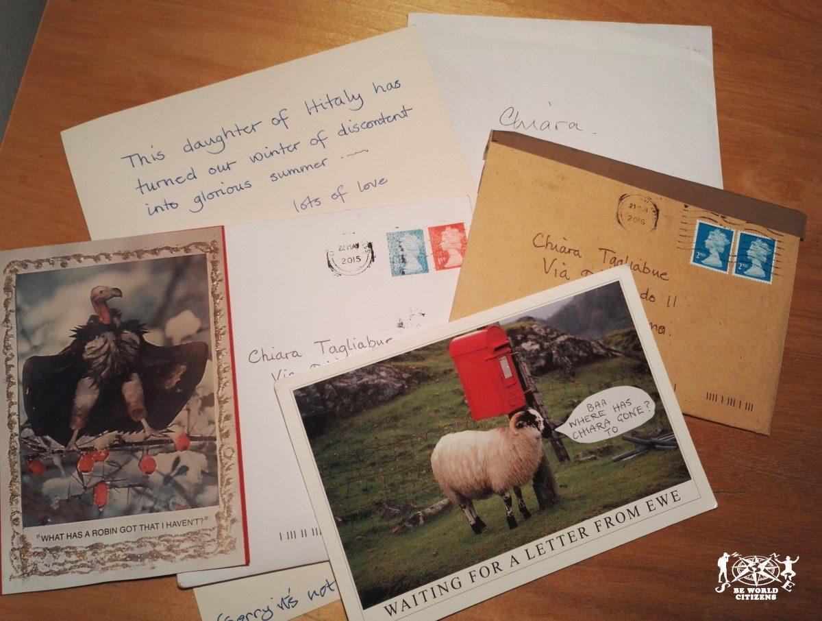 Cartoline e lettere per amici lontani