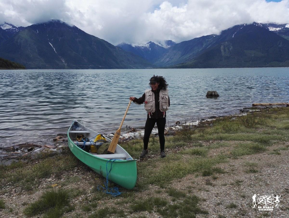 Timbasket lake, Canada. In canoa con il mio secondo host canadese.