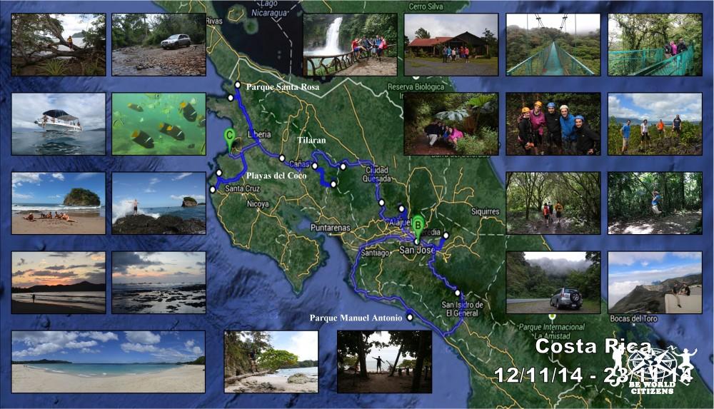 Itinerario Costa Rica
