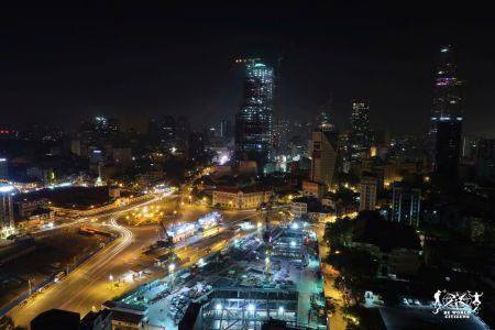 Ho Chi Minh vista da uno Sky Bar