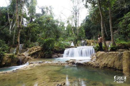 Laos: Luang Prabang, Tad Sae Waterfalls