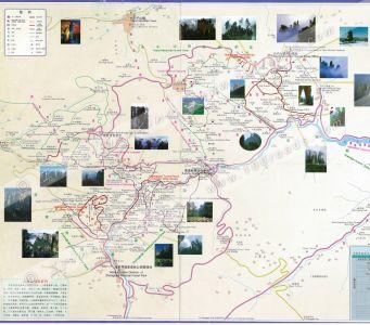 Zhangjiajie Hiking Map