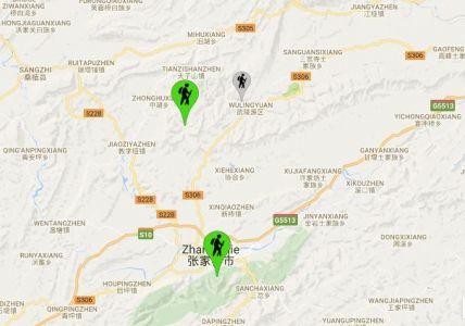 Zhangjiajie Mappa
